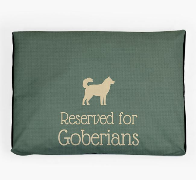 'Reserved For Goberian' Dog Bed for your Goberian