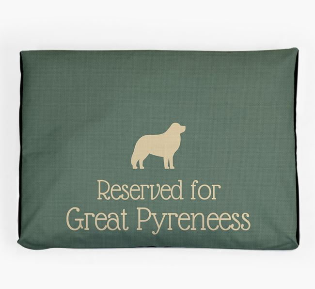 'Reserved For Great Pyrenees' Dog Bed for your Great Pyrenees
