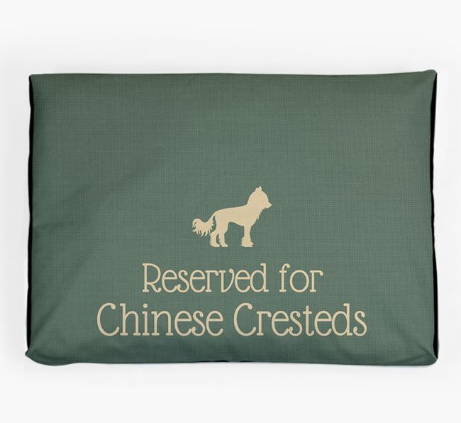 'Reserved For Chinese Crested' Dog Bed for your Hairless Chinese Crested
