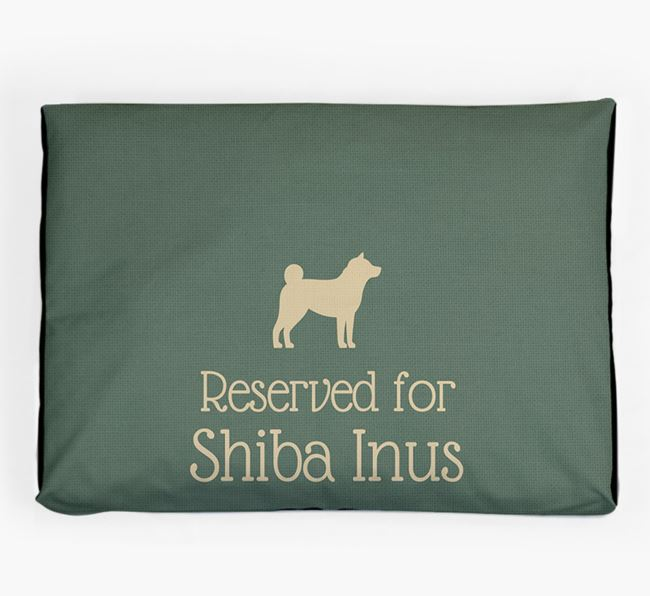 'Reserved For Shiba Inu' Dog Bed for your Japanese Shiba