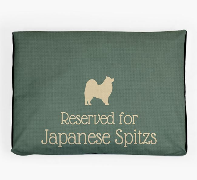'Reserved For Japanese Spitz' Dog Bed for your Japanese Spitz