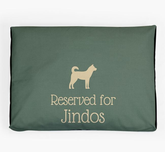 'Reserved For Jindo' Dog Bed for your Korean Jindo