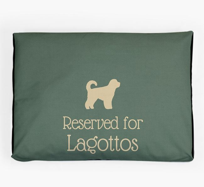 'Reserved For Lagotto' Dog Bed for your Lagotto Romagnolo
