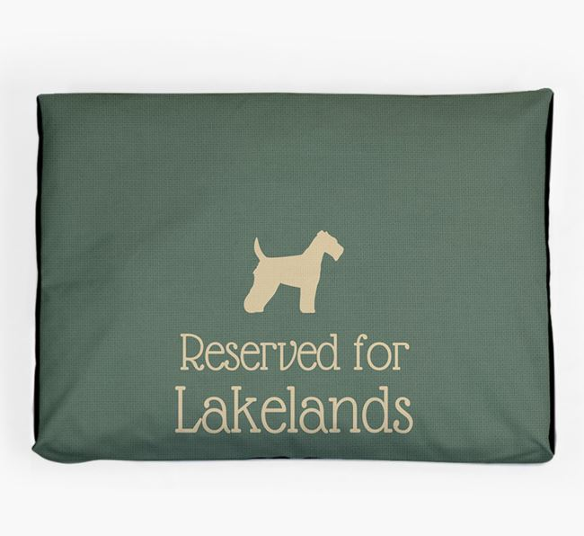 'Reserved For Lakeland' Dog Bed for your Lakeland Terrier