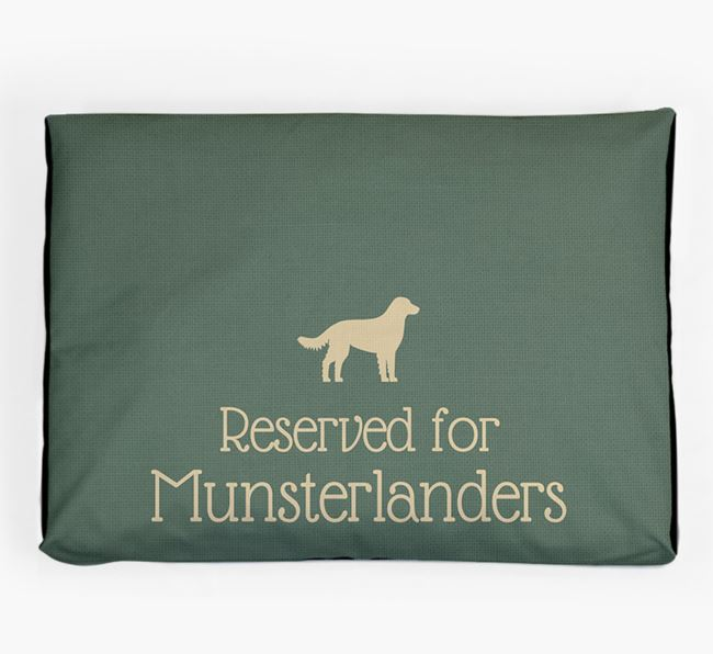'Reserved For Munsterlander' Dog Bed for your Large Munsterlander