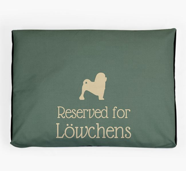 'Reserved For Löwchen' Dog Bed for your Löwchen