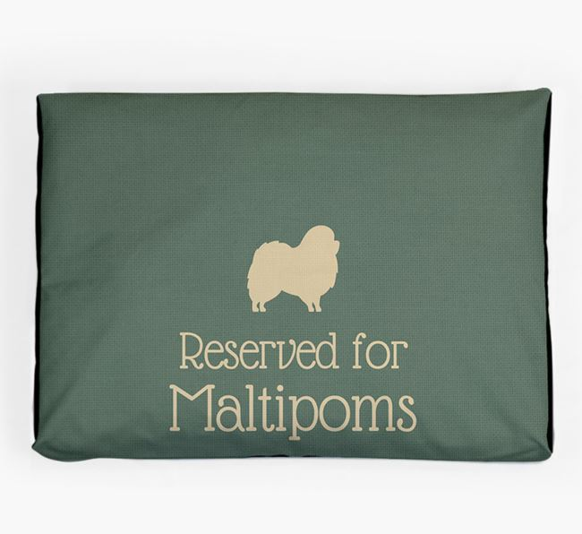 'Reserved For Maltipom' Dog Bed for your Maltipom