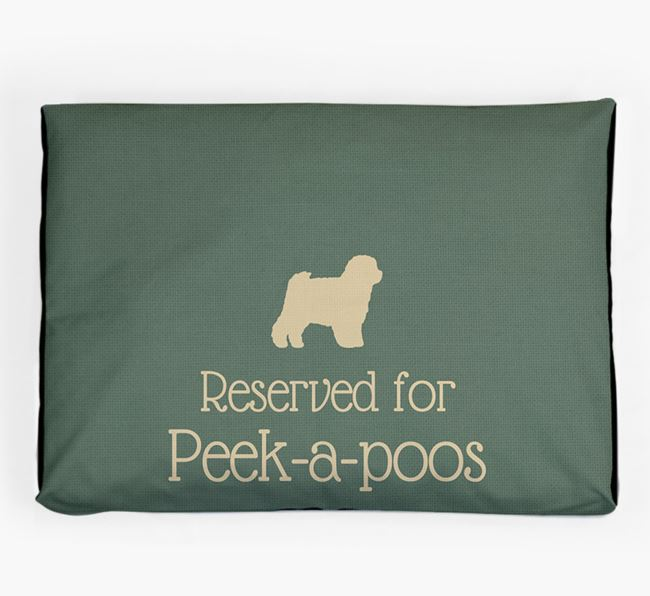 'Reserved For Peek-a-poo' Dog Bed for your Peek-a-poo
