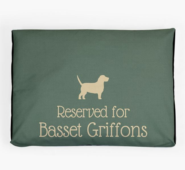 'Reserved For Basset Griffon' Dog Bed for your Petit Basset Griffon Vendeen