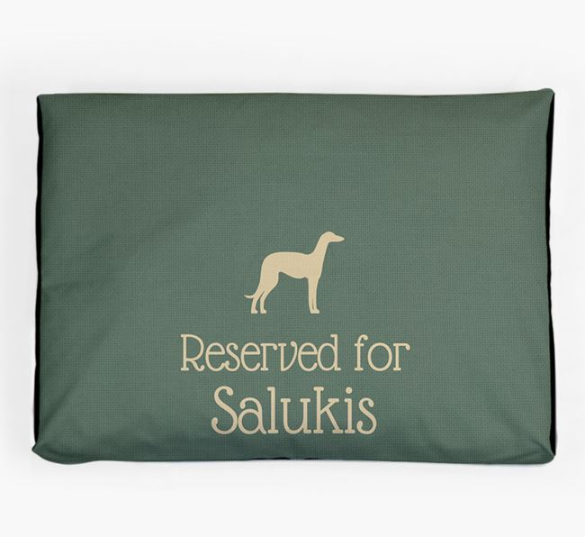 'Reserved For Saluki' Dog Bed for your Saluki