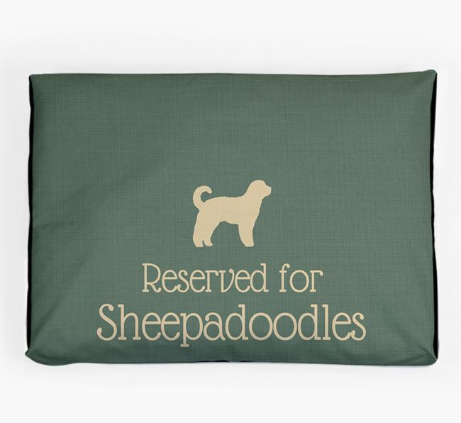 'Reserved For Sheepadoodle' Dog Bed for your Sheepadoodle
