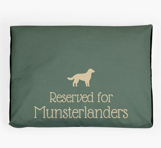 'Reserved For Munsterlander' Dog Bed for your Small Munsterlander