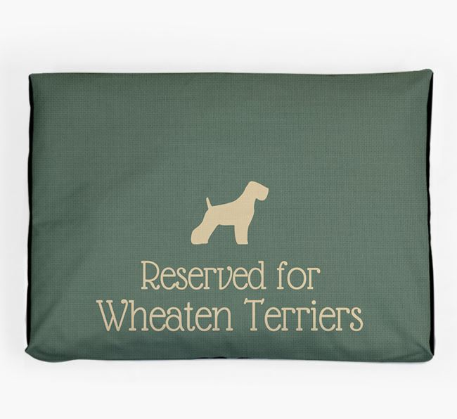 'Reserved For Wheaten Terrier' Dog Bed for your Soft Coated Wheaten Terrier