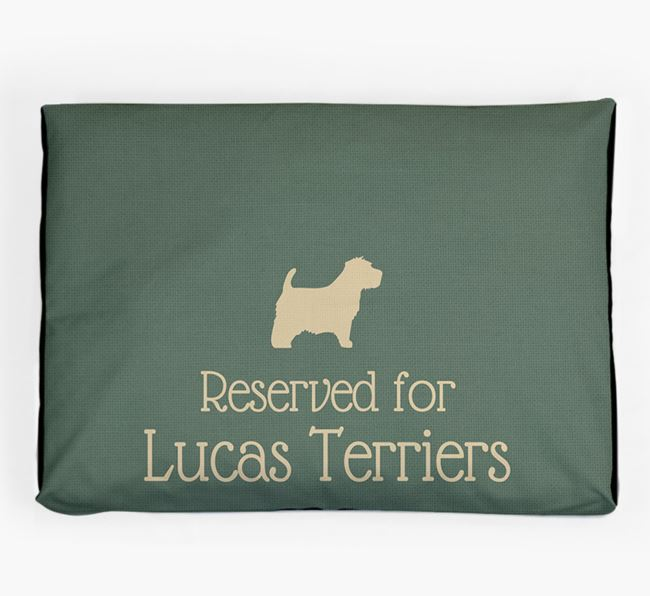 'Reserved For Lucas Terrier' Dog Bed for your Sporting Lucas Terrier