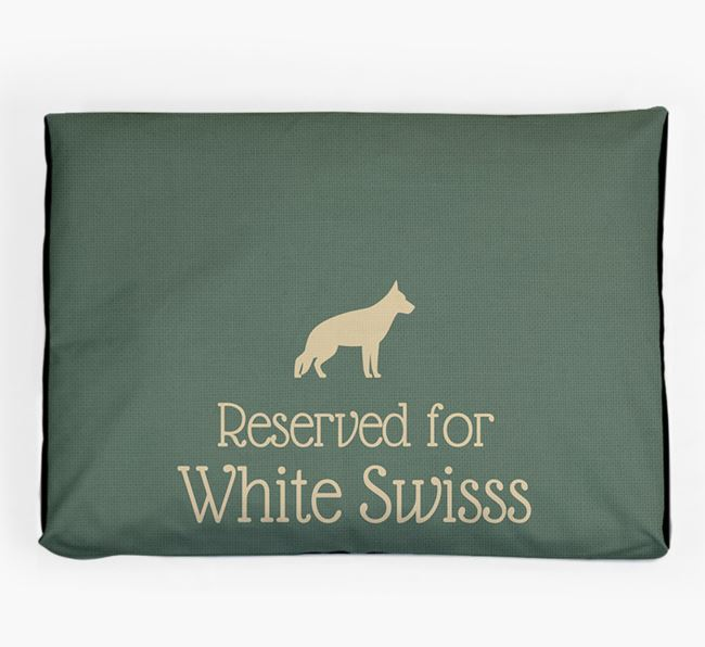'Reserved For White Swiss' Dog Bed for your White Swiss Shepherd Dog