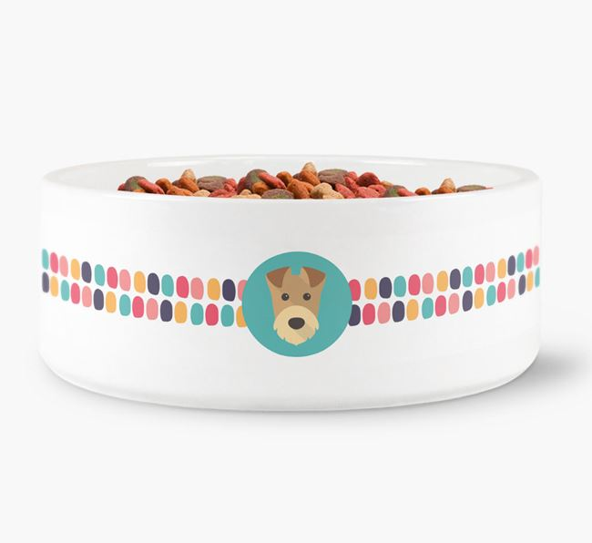 Dot Pattern Dog Bowl for your Airedale Terrier