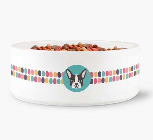 Dot Pattern Dog Bowl for your French Bulldog
