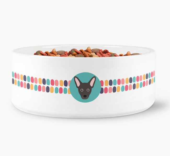 Dot Pattern Dog Bowl for your French Pin