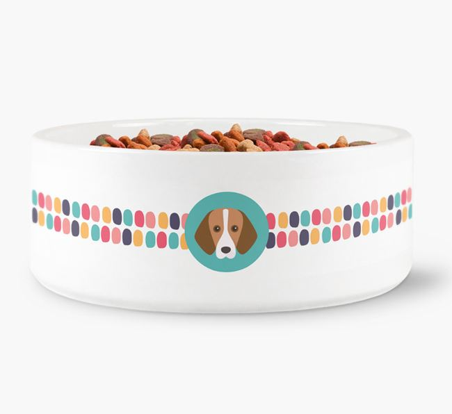 Dot Pattern Dog Bowl for your Harrier