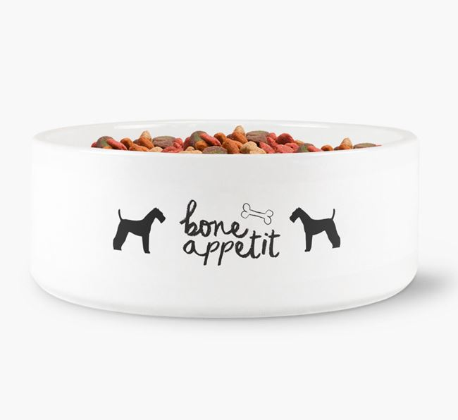 'Bone Appetit' Dog Bowl for your Airedale Terrier