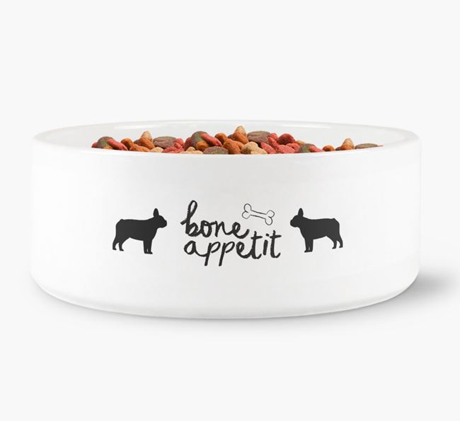 'Bone Appetit' Dog Bowl for your French Bulldog