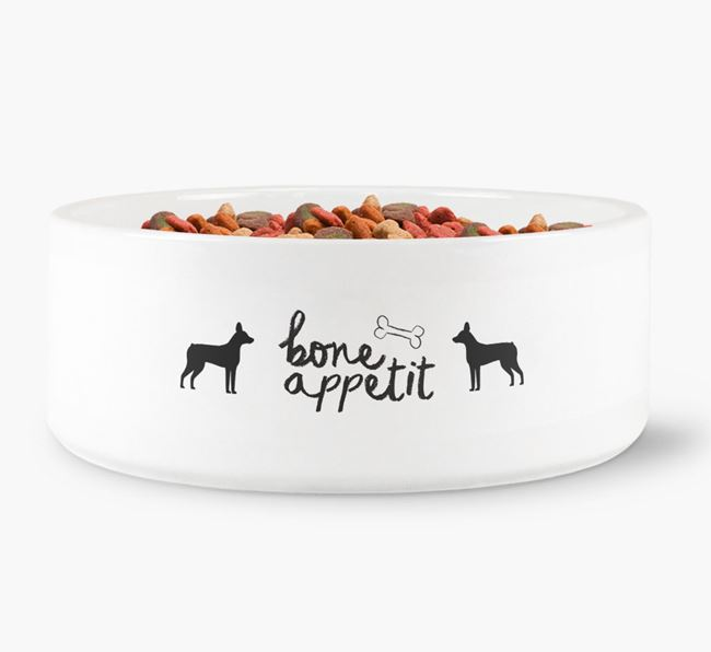 'Bone Appetit' Dog Bowl for your French Pin