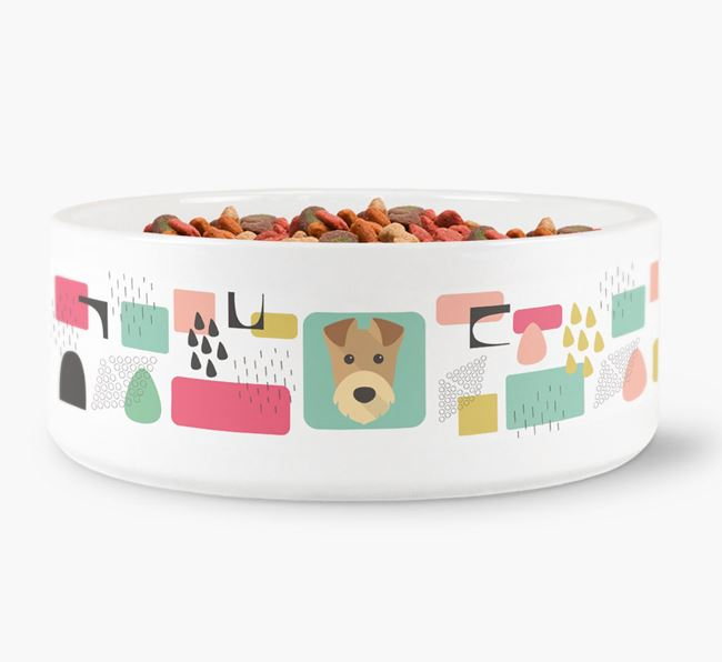 Abstract Design Dog Bowl for your Airedale Terrier