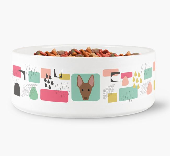 Abstract Design Dog Bowl for your American Hairless Terrier