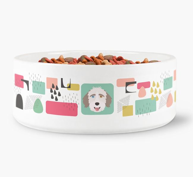 Abstract Design Dog Bowl for your Aussiedoodle