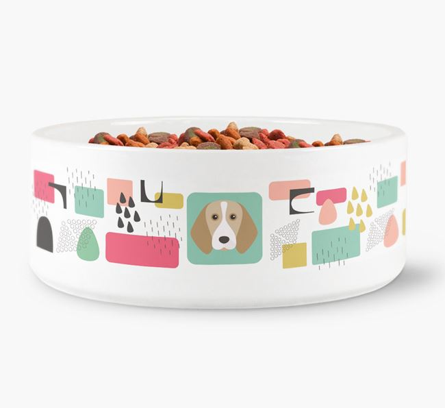 Abstract Design Dog Bowl for your Beagle