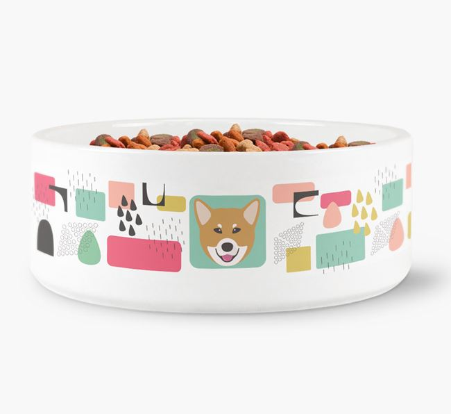 Abstract Design Dog Bowl for your Canadian Eskimo Dog