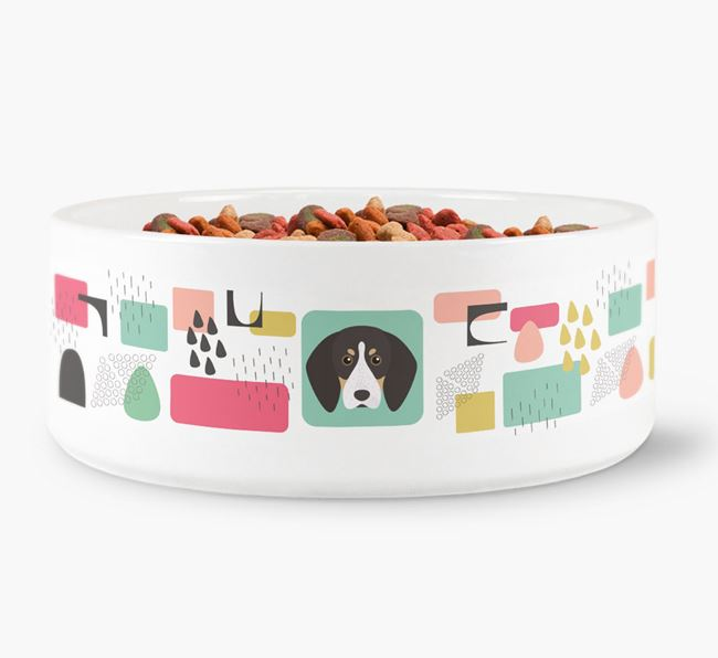 Abstract Design Dog Bowl for your English Coonhound