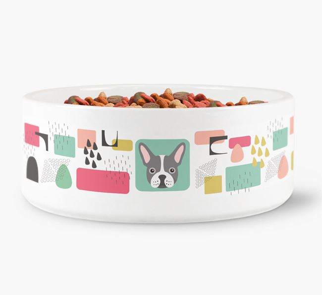 Abstract Design Dog Bowl for your French Bulldog