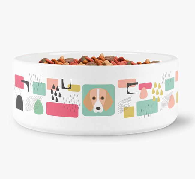 Abstract Design Dog Bowl for your Harrier