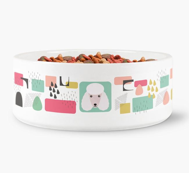 Abstract Design Dog Bowl for your Poodle