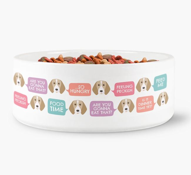 Speech Bubble Dog Bowl for your Beagle