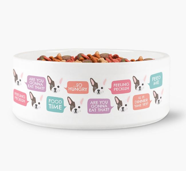 Speech Bubble Dog Bowl for your French Bulldog