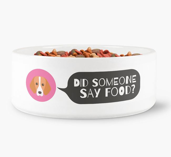'Did someone say food?' Dog Bowl for your Foxhound