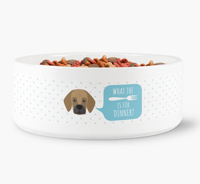 'What's for dinner?' Dog Bowl for your Bassugg