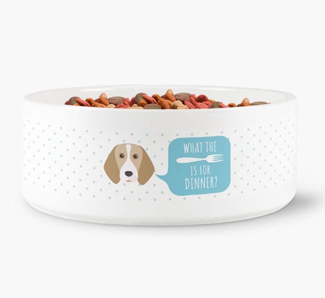 'What's for dinner?' Dog Bowl for your Beagle