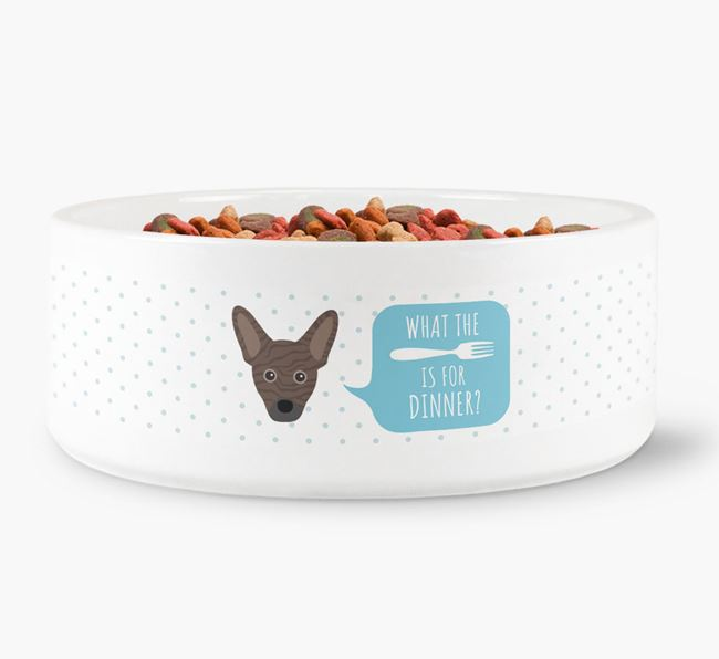 'What's for dinner?' Dog Bowl for your French Pin