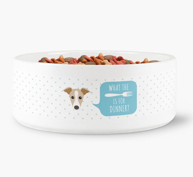 'What's for dinner?' Dog Bowl for your Dog
