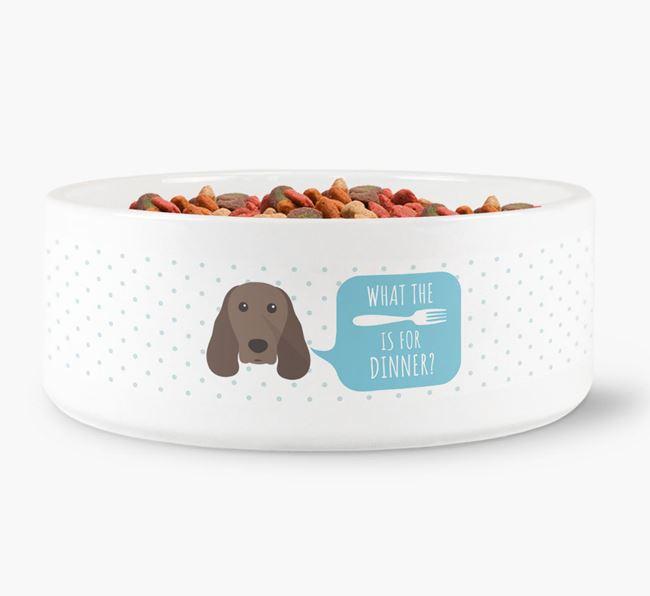 'What's for dinner?' Dog Bowl for your Springer Spaniel