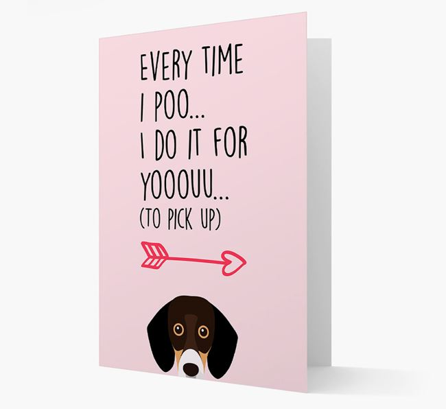 'Everytime I Poo...' Card with your Bassador Icon