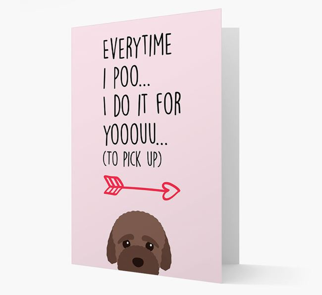 'Everytime I Poo...' Card with your Bich-poo Icon