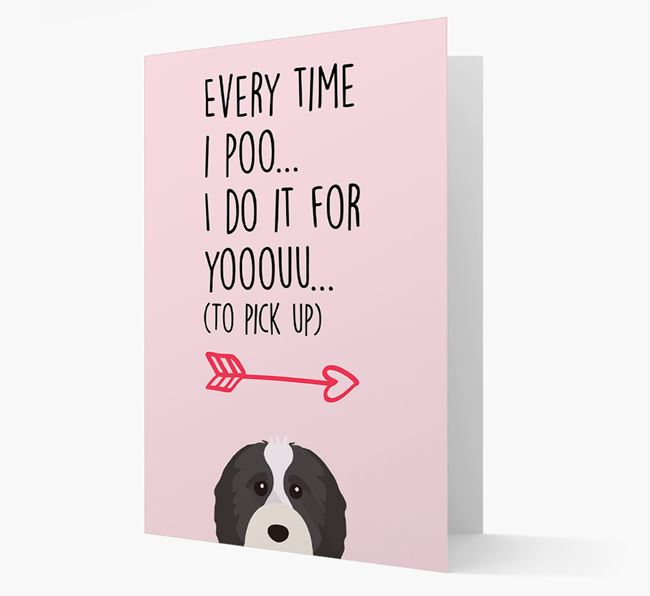 'Everytime I Poo...' Card with your Cavapoo Icon