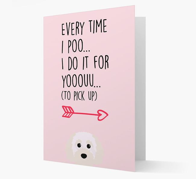 'Everytime I Poo...' Card with your Cavapoochon Icon