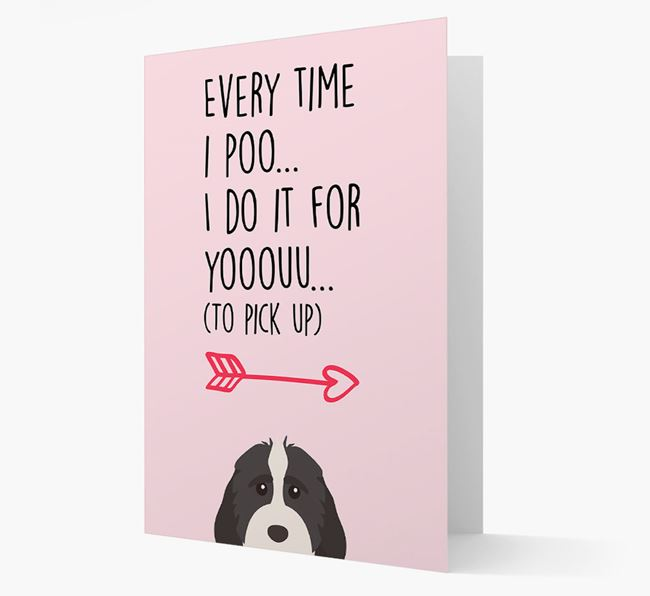 'Everytime I Poo...' Card with your Cockapoo Icon