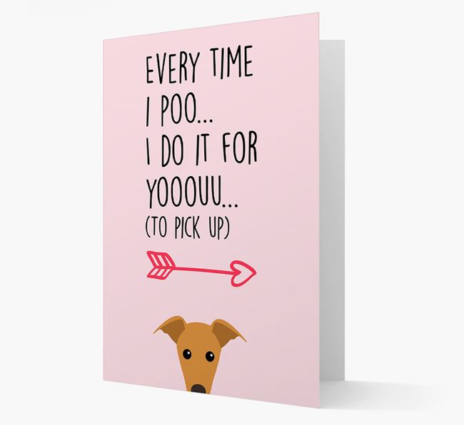 'Everytime I Poo...' Card with your Greyhound Icon
