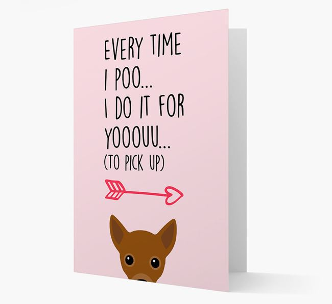 'Everytime I Poo...' Card with your Jackahuahua Icon
